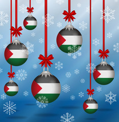 Christmas background flags Palestine