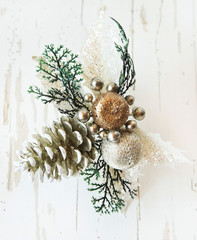 Silver Festive Decoration for Christmas Tree