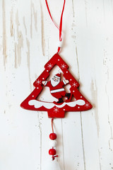 Christmas Tree Decoration with Santa