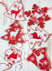 Wooden Ornaments for Christmas Tree