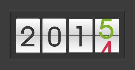 Jahr 2015 Display Neujahr Jahreswechsel
