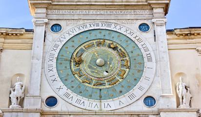 Clock Tower in the Piazza dei Signori in Padua, Italy