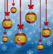 Obrazy na płótnie, fototapety, zdjęcia, fotoobrazy drukowane : Christmas background flags Spain