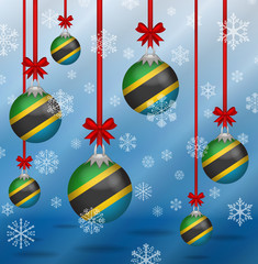 Christmas background flags Tanzania