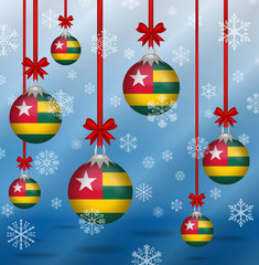 Christmas background flags Togo
