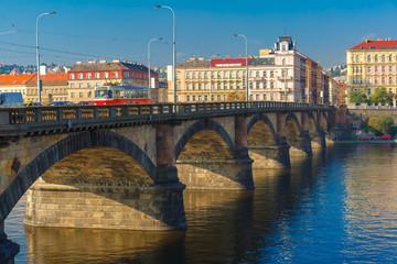 Palacky Bridge in Prague (Czech Republic)