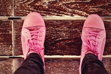 Blurred Pink Sneakers - Accessories and wearable (Sneakers).