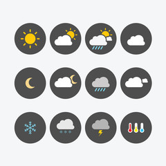 Weather Icons Simple Flat