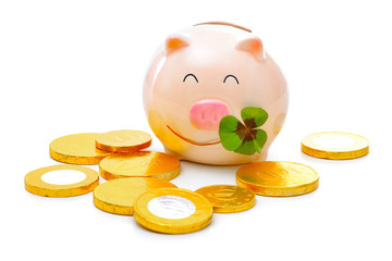 Piggybank with shamrock