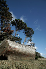 Schiffswrack in der Bretagne