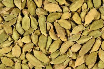 Cardamom seeds close up