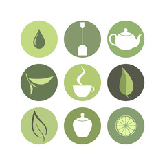 Tea. Icon set