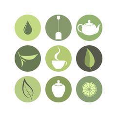 Tea. Icon set