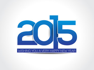 happy new year 2015 text background illustration