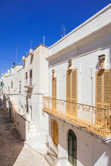 Street in Ostuni. Southern Italy
