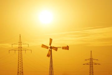 Sonne, Wind und Strom