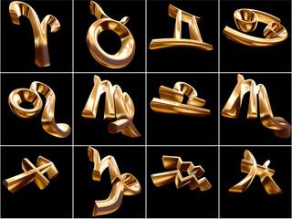 3D Zodiac Sign