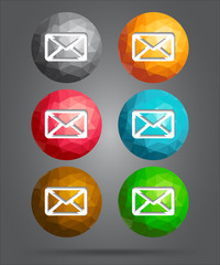 set of icons mail