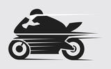 Fototapety Super Speed Motorcycle in Black and white