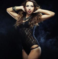 young striptease dancer