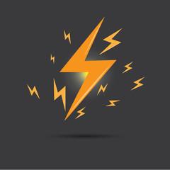 Vector of thunder lighting