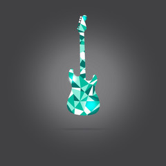 Vector of abstract guitar instrument