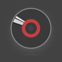 Vector of music disc
