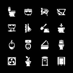 Set icons of toilet