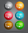set of icons computer