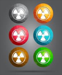 set of icons radioactivity