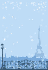 winter Paris background
