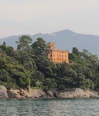 House on sea coast. Santa-Margherita-Ligure, Genoa, Italy