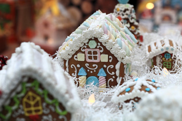 Details of gingerbread house