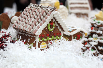 View of gingerbread house