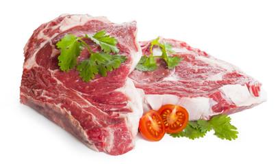 Piezas de carne