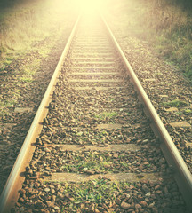 Vintage filtered picture of railway tracks.