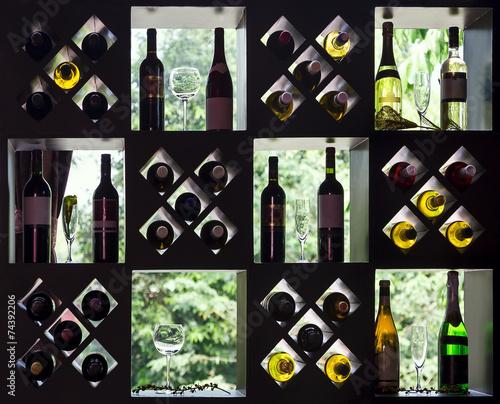Fototapeta Wine collection