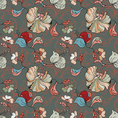 Oriental floral Seamless PAttern