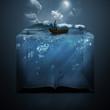 Leinwanddruck Bild - Anchor and Bible