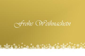 goldene Weihnachtskarte