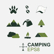 Camping Symbol in EPS8