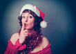 Santa-girl makign shhh - Christmastime 03
