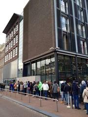 Amsterdam, fila alla casa di Anna Frank - Olanda