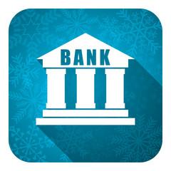 bank flat icon, christmas button