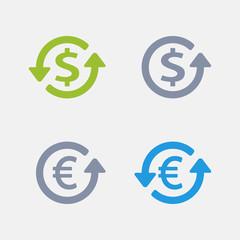 Dollar & Euro | Granite Alternative Icons