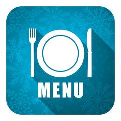 menu flat icon, christmas button, restaurant sign