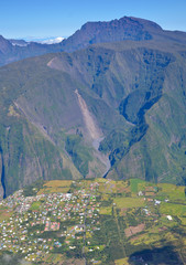 Village in Reunion Island overlooking Piton Des Neiges