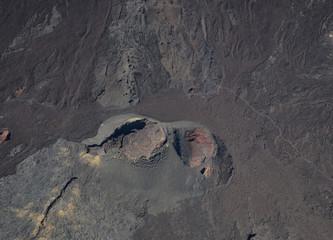 Crater of Piton de La Fournaise volcano