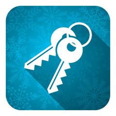 keys flat icon, christmas button