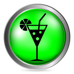 Cocktail glass button